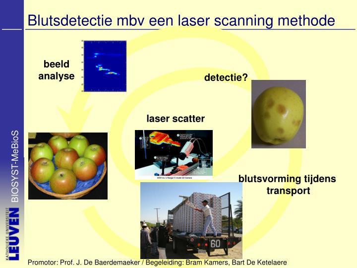 blutsdetectie mbv een laser scanning methode