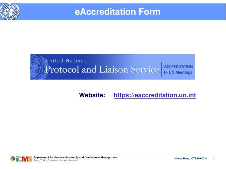 eAccreditation Form