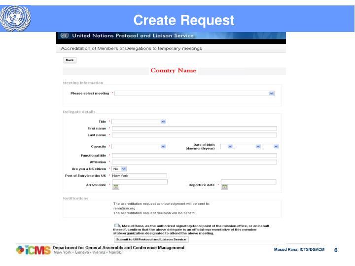 Create Request