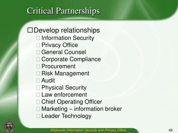 Critical Partnerships