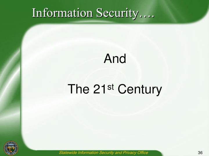 Information Security….