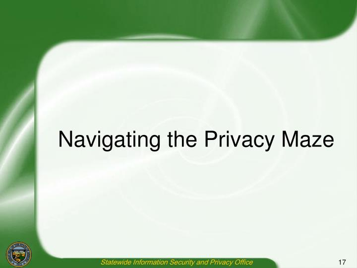 Navigating the Privacy Maze