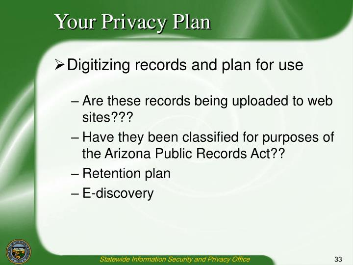Your Privacy Plan