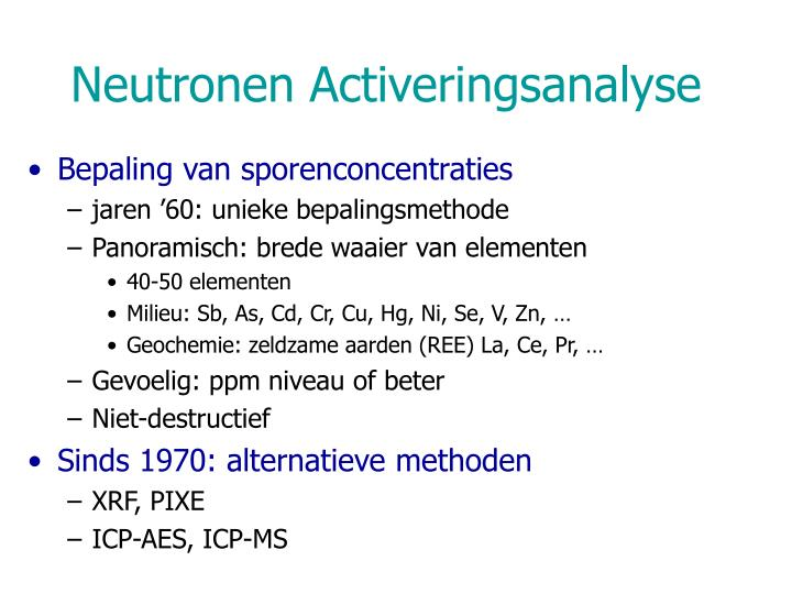 Neutronen activeringsanalyse