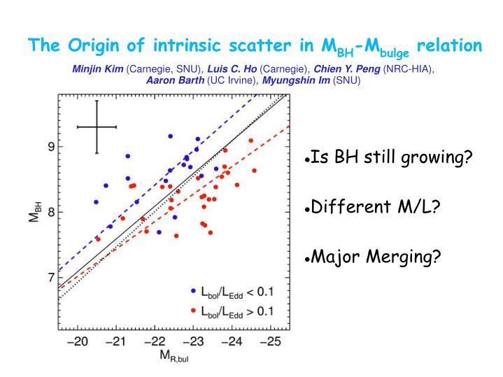 The Origin of intrinsic scatter in M