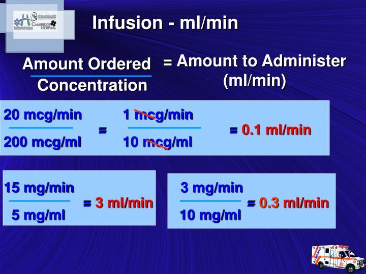 Infusion - ml/min