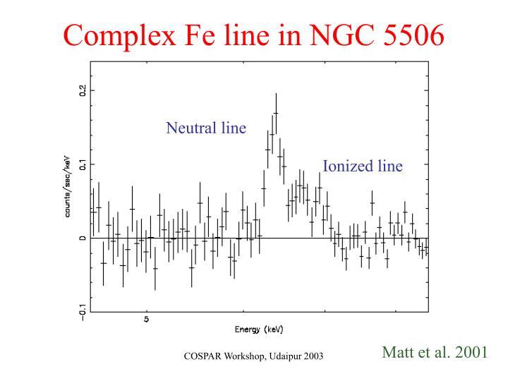 Complex Fe line in NGC 5506