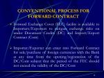 conventional process for forward contract