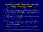 exporter forward contract of purchase foreign currency contd