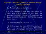 exporter forward contract of purchase foreign currency contd1