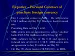exporter forward contract of purchase foreign currency