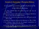 scenario 3 transaction premature delivery
