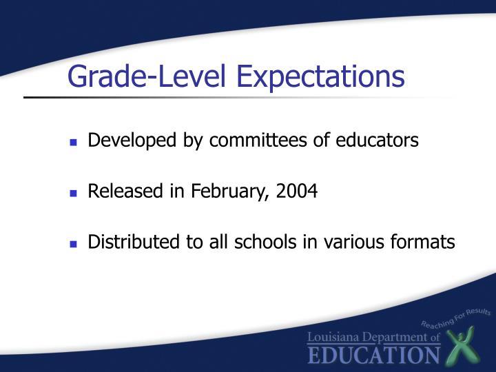 Grade-Level Expectations