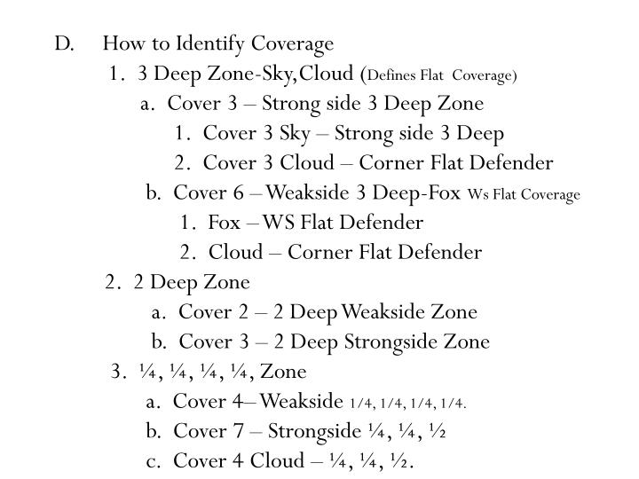 D.	 How to Identify Coverage