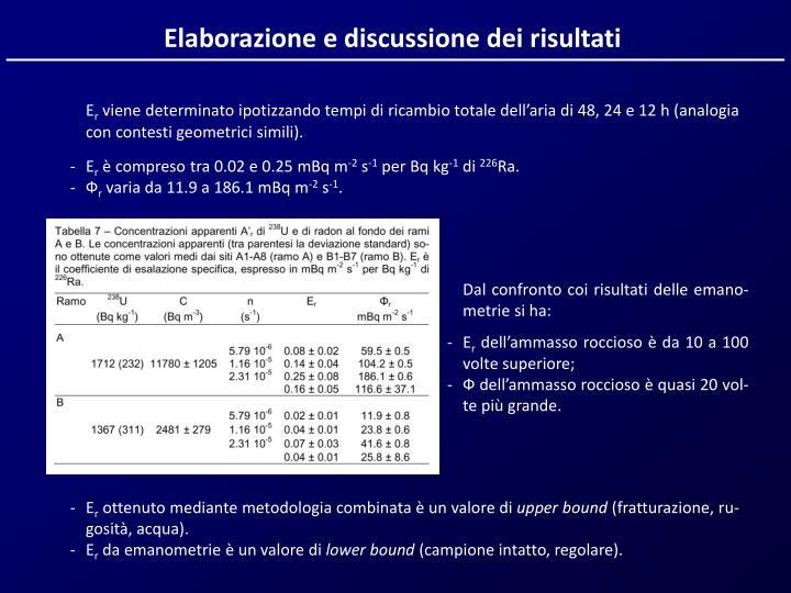 Elaborazione e discussione dei risultati