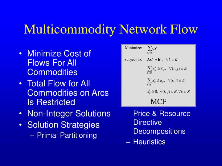 Minimize Cost of Flows For All Commodities