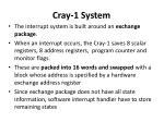 cray 1 system