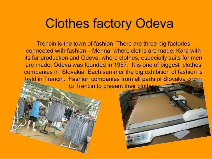 Clothes factory Odeva