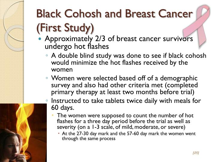 Black Cohosh and Breast Cancer (First Study)