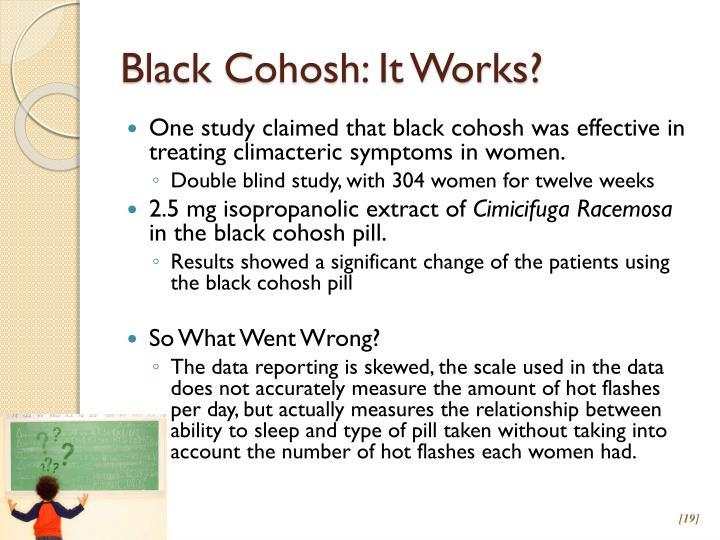 Black Cohosh: It Works?