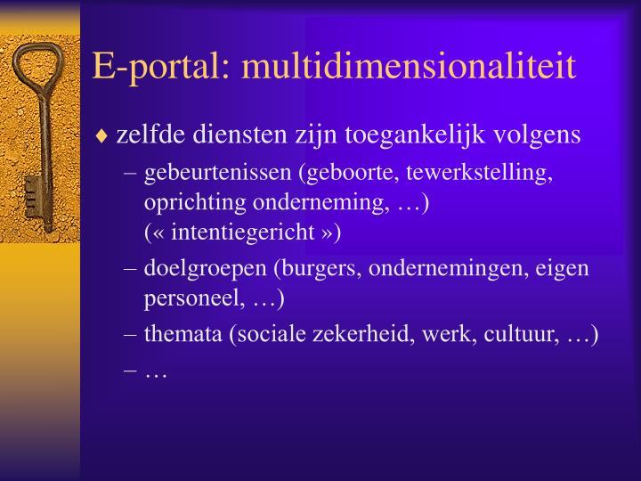 E-portal: multidimensionaliteit