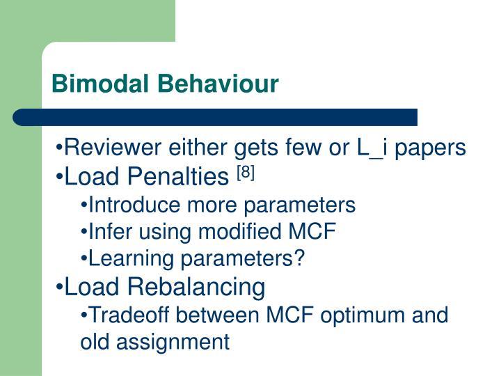 Bimodal Behaviour