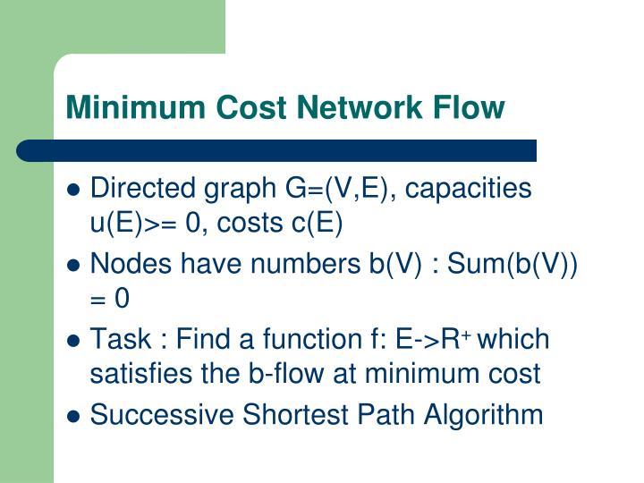 Minimum Cost Network Flow