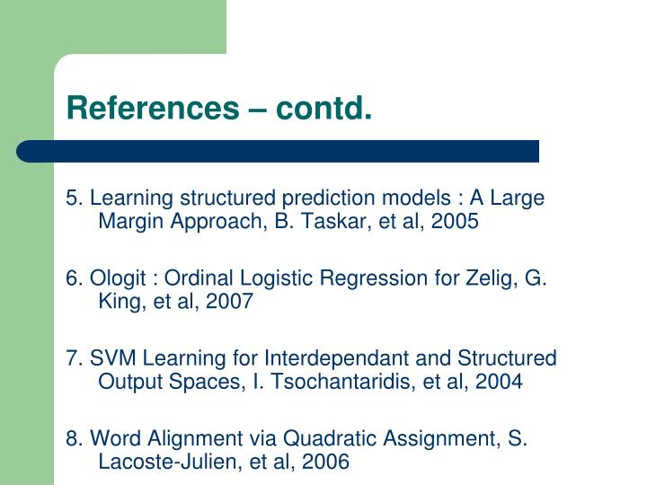 References – contd.