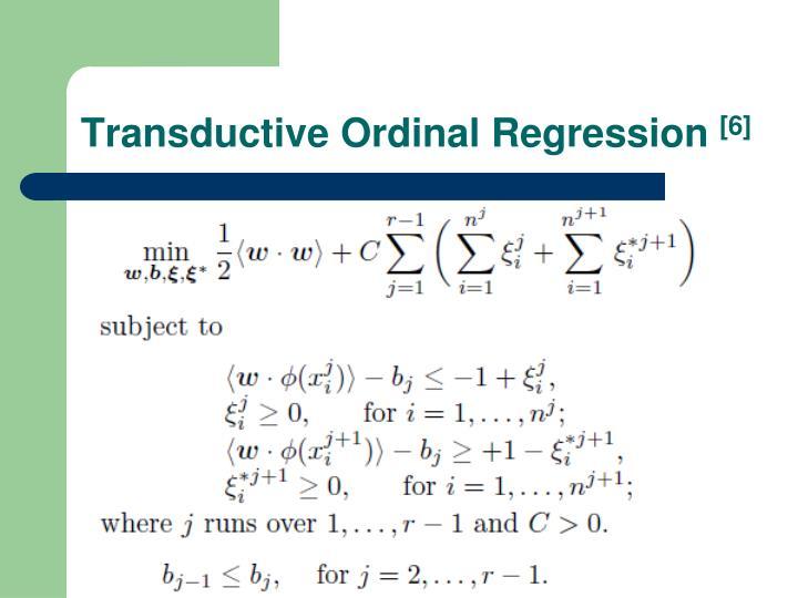 Transductive Ordinal Regression