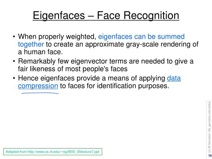 Eigenfaces – Face Recognition