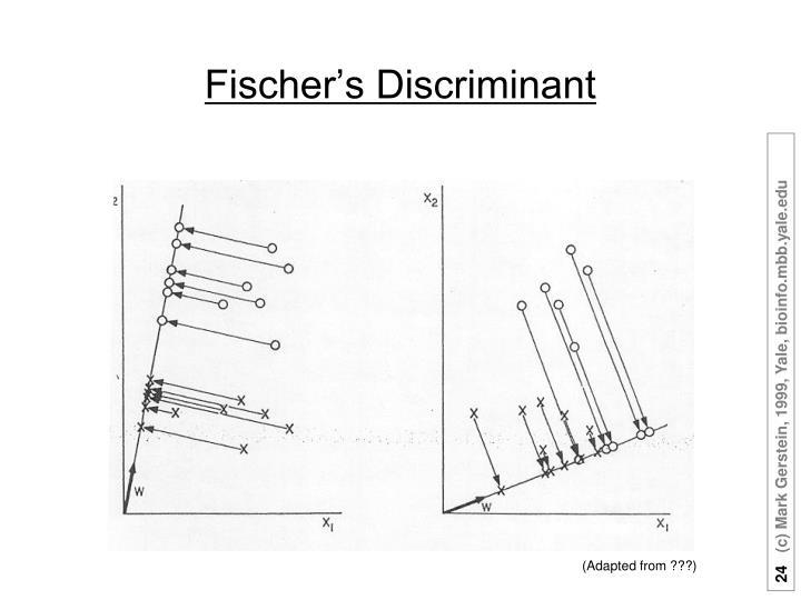 Fischer's Discriminant