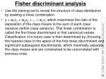 fisher discriminant analysis