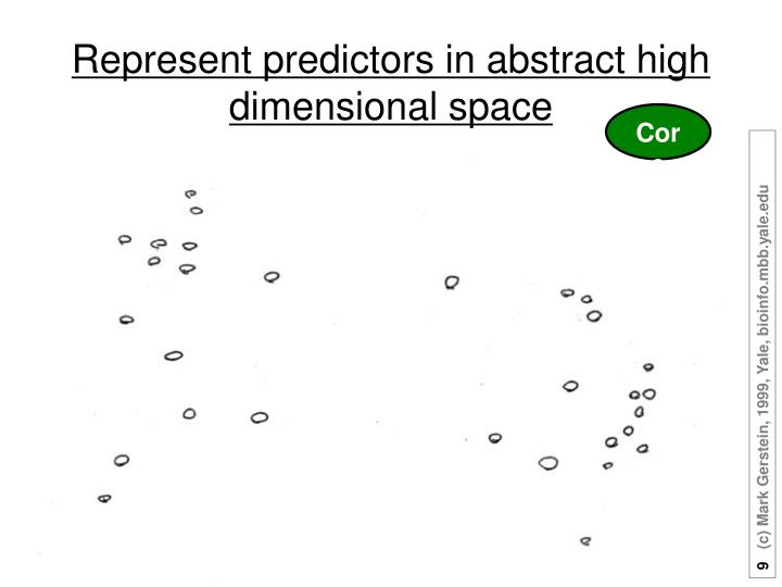 Represent predictors in abstract high dimensional space