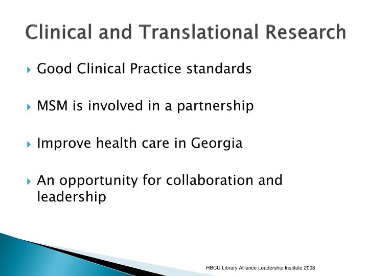 Clinical and Translational Research