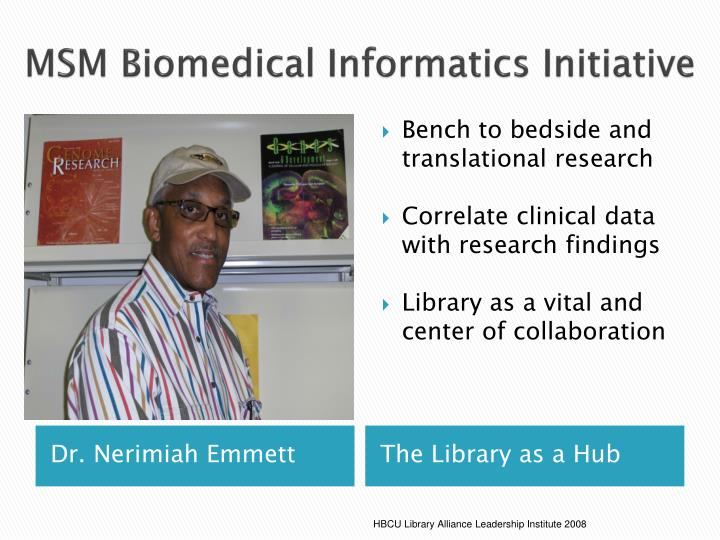 MSM Biomedical Informatics Initiative
