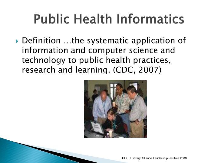 Public Health Informatics