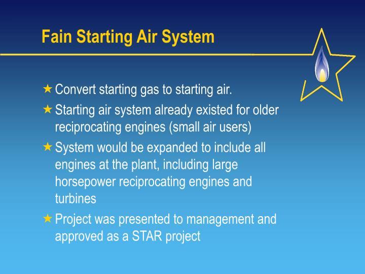 Fain Starting Air System