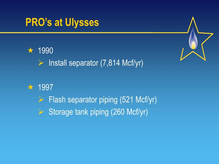 PRO's at Ulysses