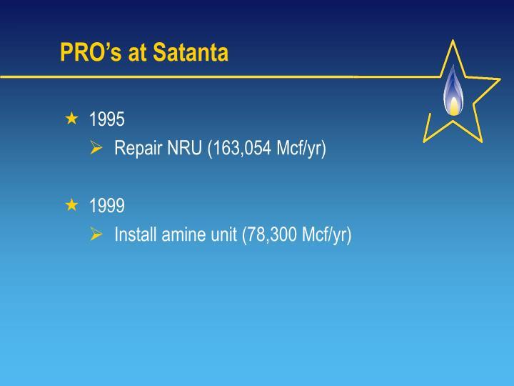 PRO's at Satanta