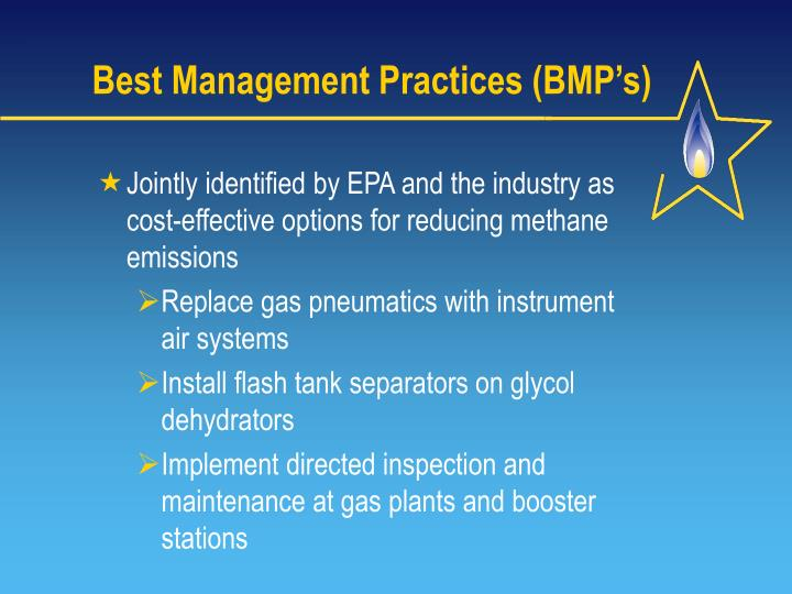 Best Management Practices (BMP's)