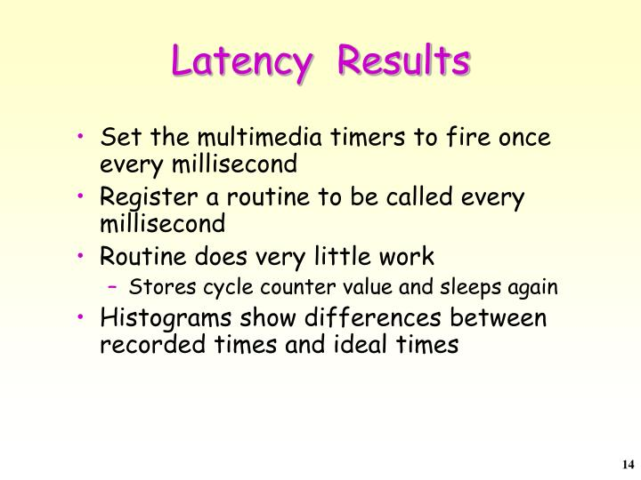 Latency  Results