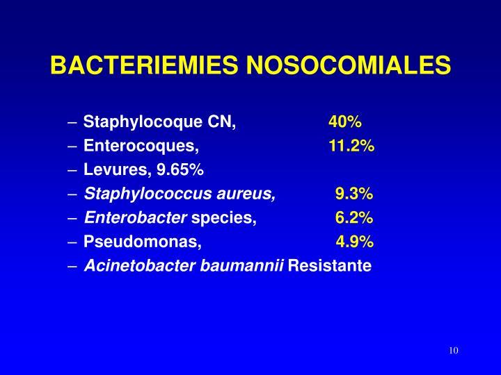 BACTERIEMIES NOSOCOMIALES