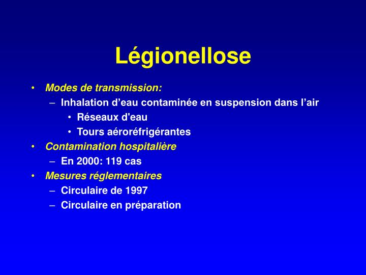 Légionellose