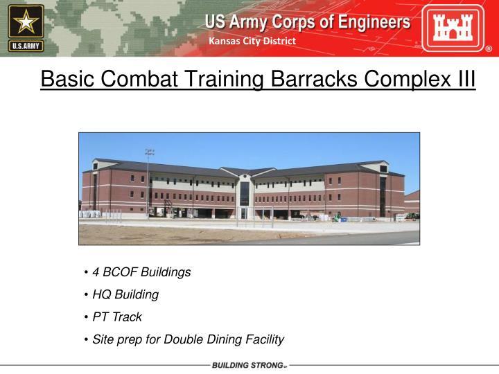 Basic Combat Training Barracks Complex III