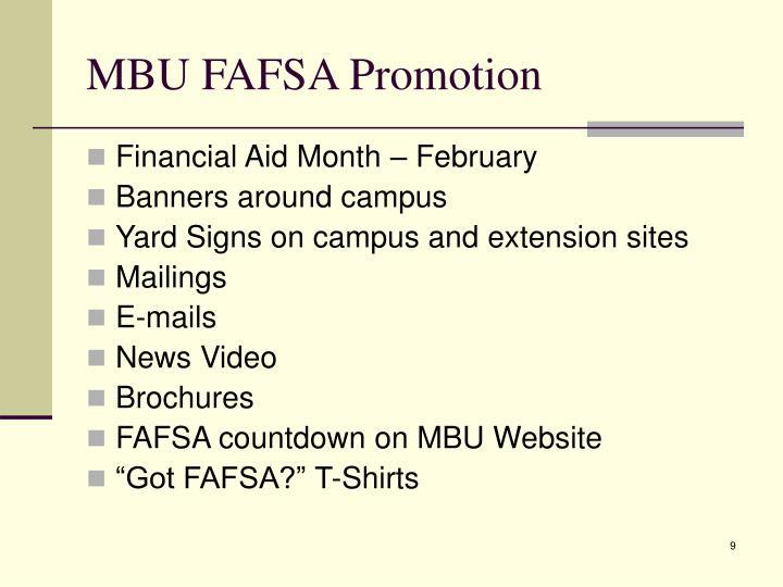 MBU FAFSA Promotion