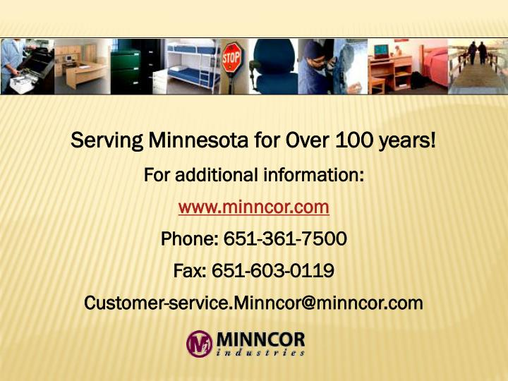 Serving Minnesota for Over 100 years!