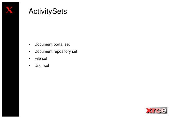 ActivitySets