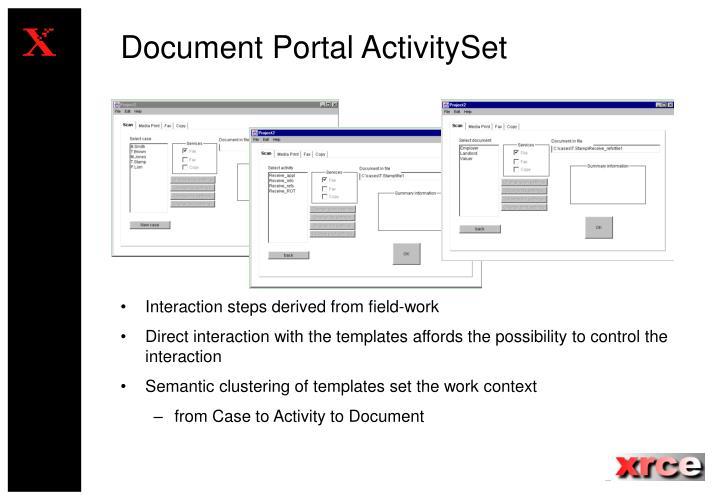 Document Portal ActivitySet