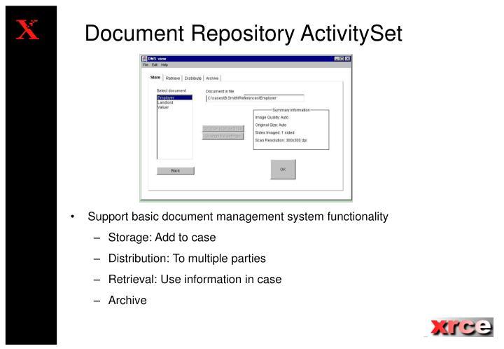 Document Repository ActivitySet