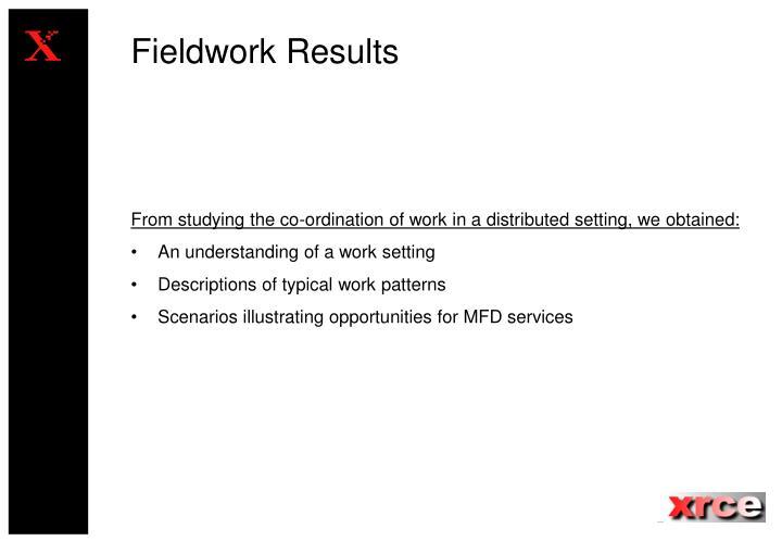 Fieldwork Results